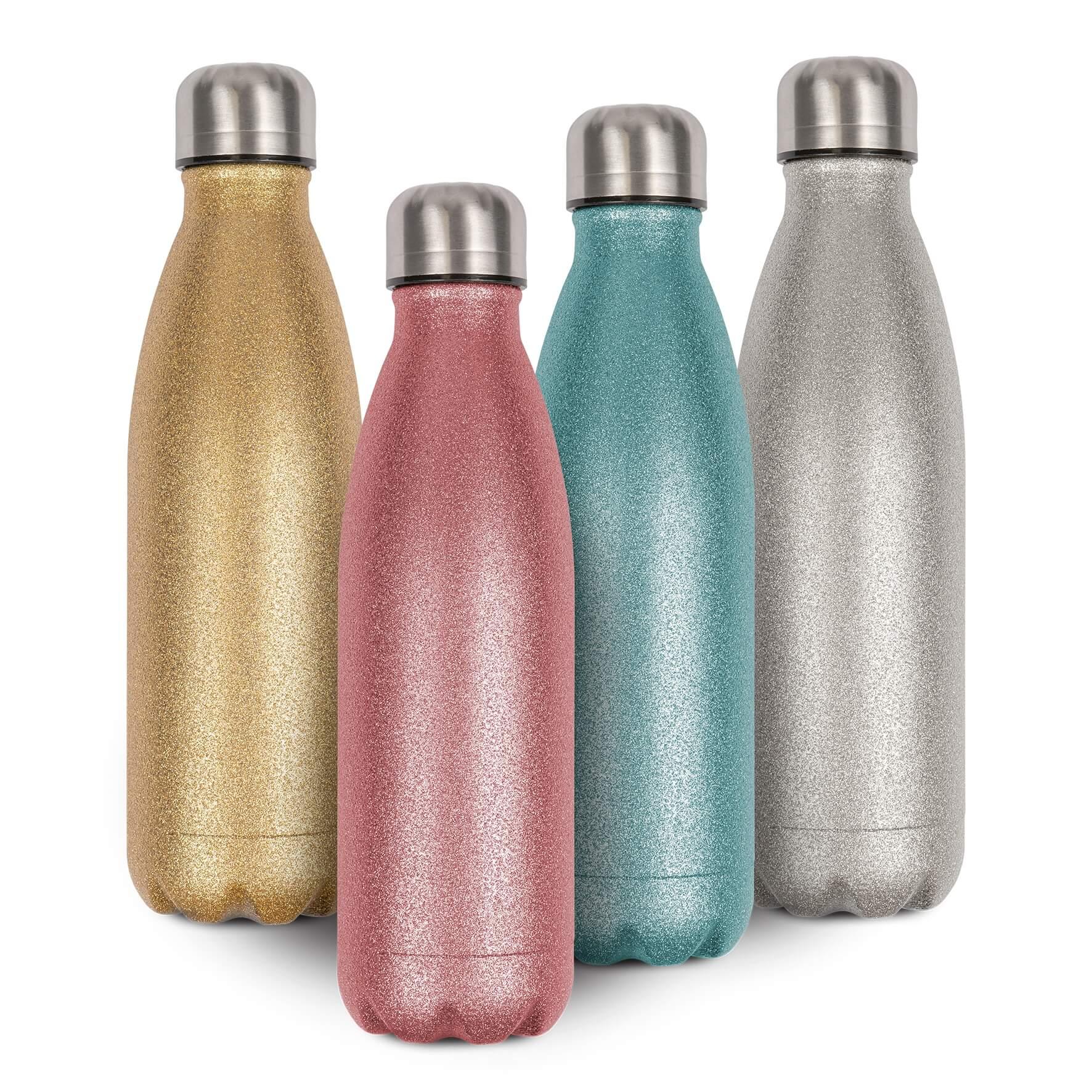 Glitzer Edelstahl-Thermoflasche